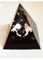 Оргонит пирамида с оникс, карбон и хематит за защита размер XL