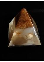 Мини оргонит пирамида за любов с розов кварц размер XS