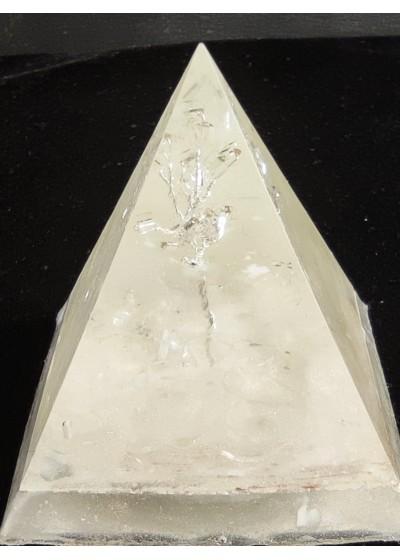 Пирамида оргонит Дървото на живота с планински кристал размер L