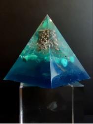 Оргонит пирамида за късмет спокойствие и пари в дома Sea Magic размер XL