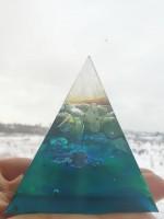 Пирамида оргонит за предпазване от негативна енергия и лоши очи L