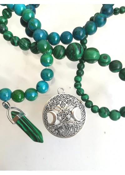 Медальон за просперитет - дървото на живота и тройна луна