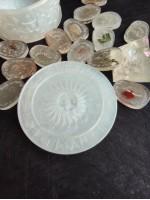 Вещерска кутия оргонит слънце за съхранение на руни камъни и бижута цвят магично бяло