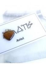 Комплект Амулет с ангелски руни за Архангел Ариел и сърце тигрово око
