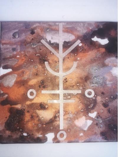 Амулет за късмет - картина със сигил